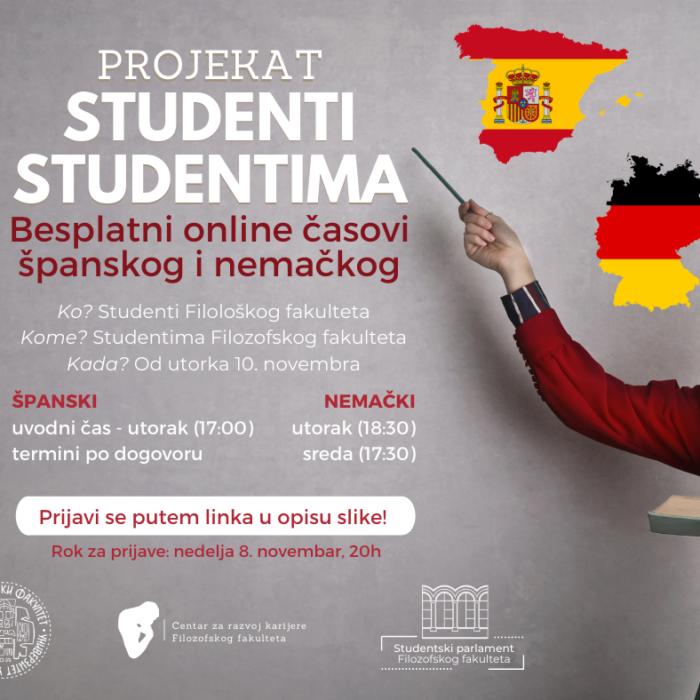 Besplatni online časovi španskog i nemačkog