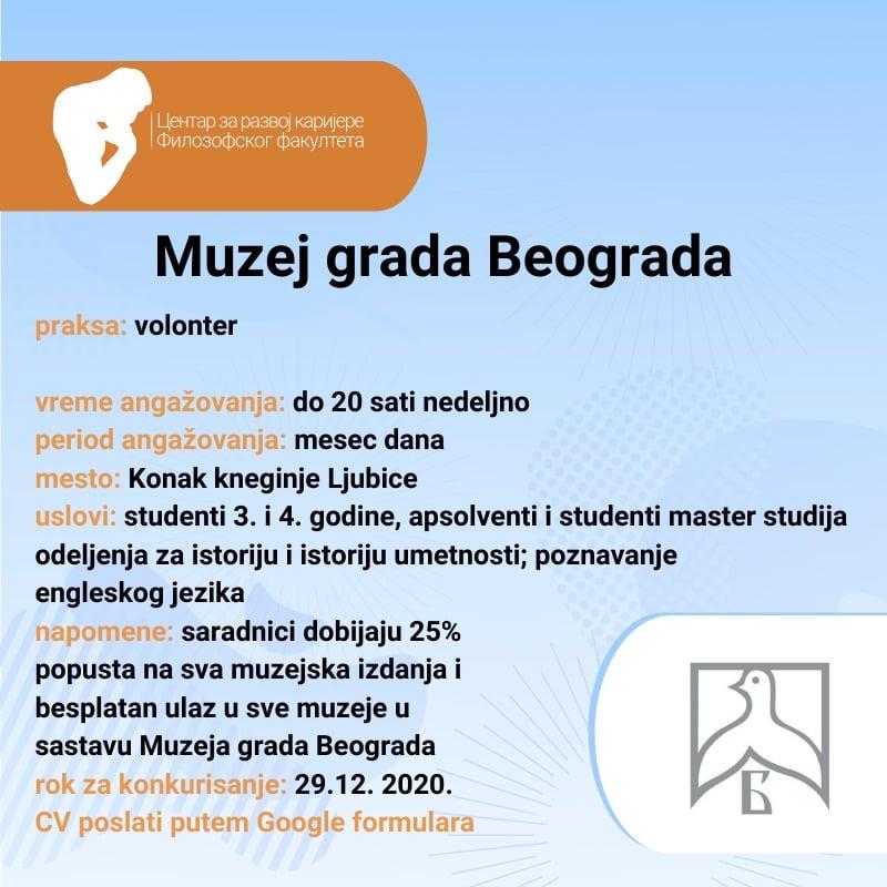Praksa u Muzeju grada Beograda
