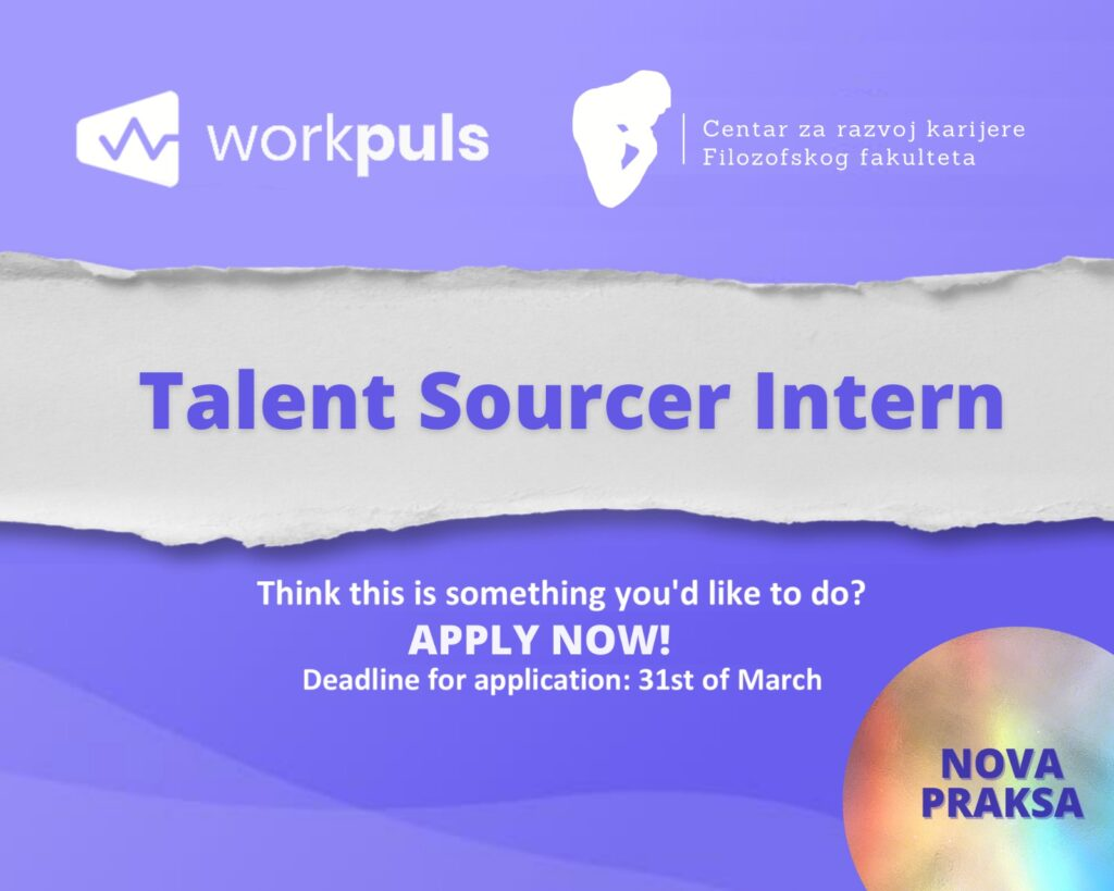 Praksa Talent Sourcer Intern u Workpuls-u