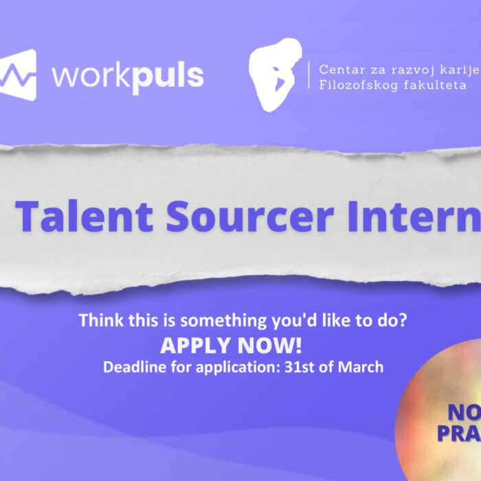 Praksa Talent Sourcer Intern u Workpuls-u