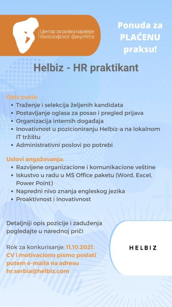 Helbiz-HR praktikant